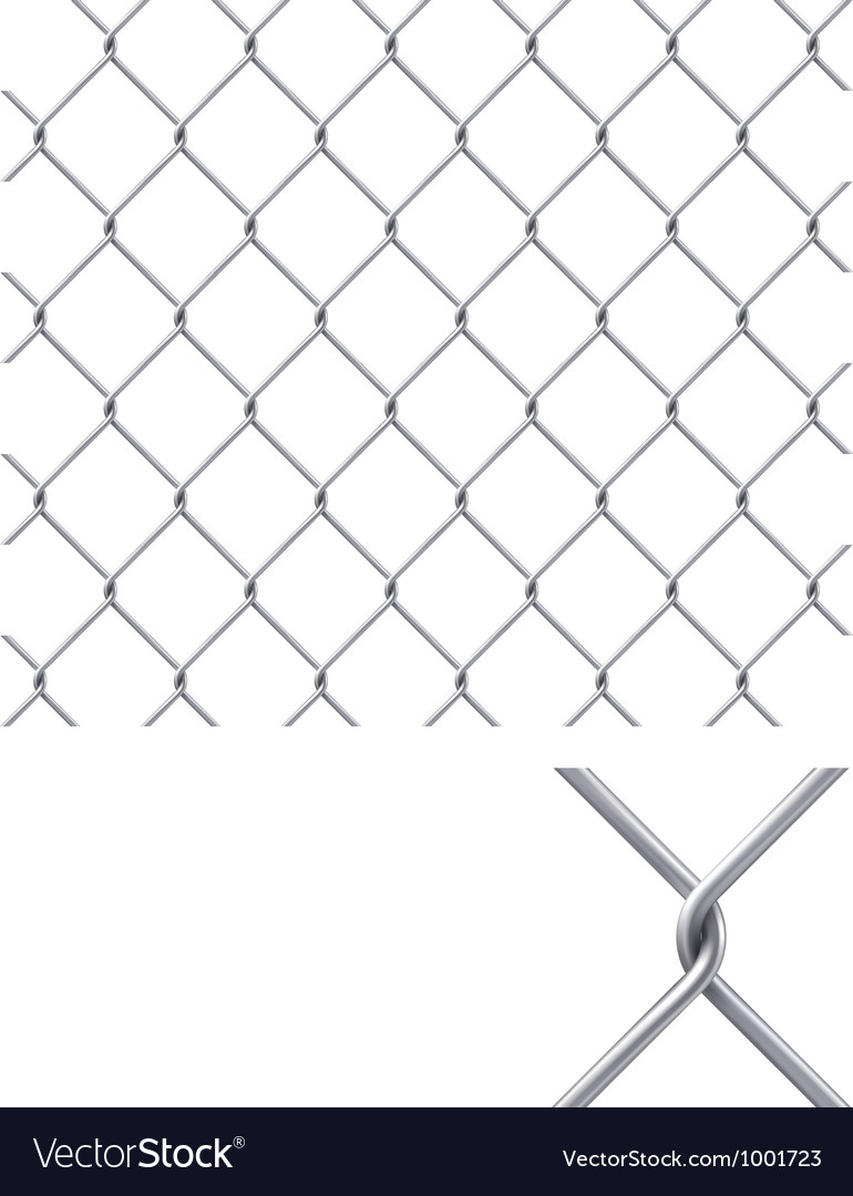 Chain fence vector