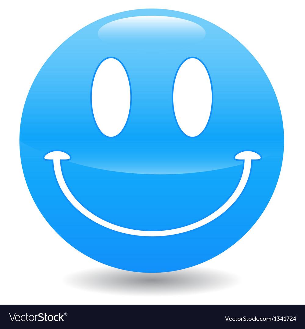 Blue smile vector