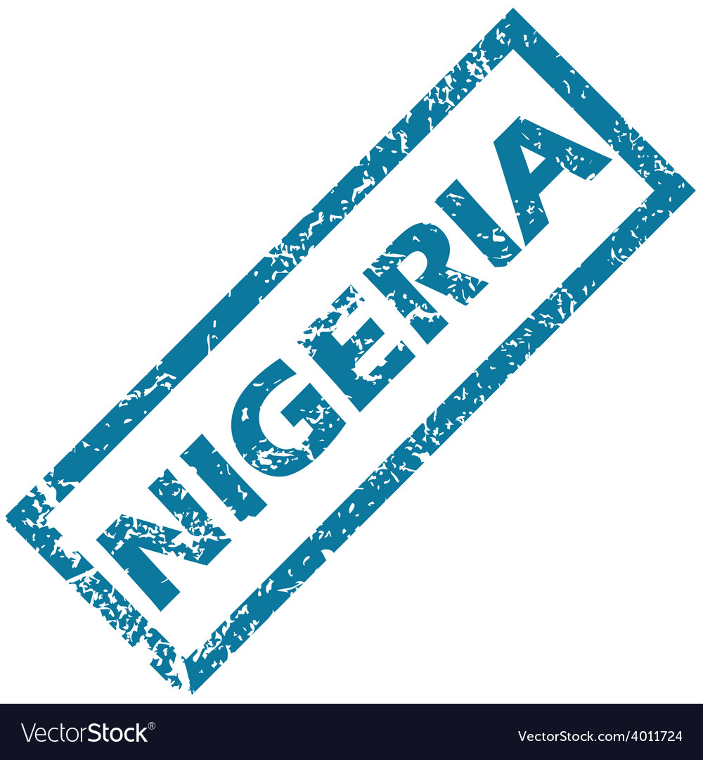 Nigeria rubber stamp vector