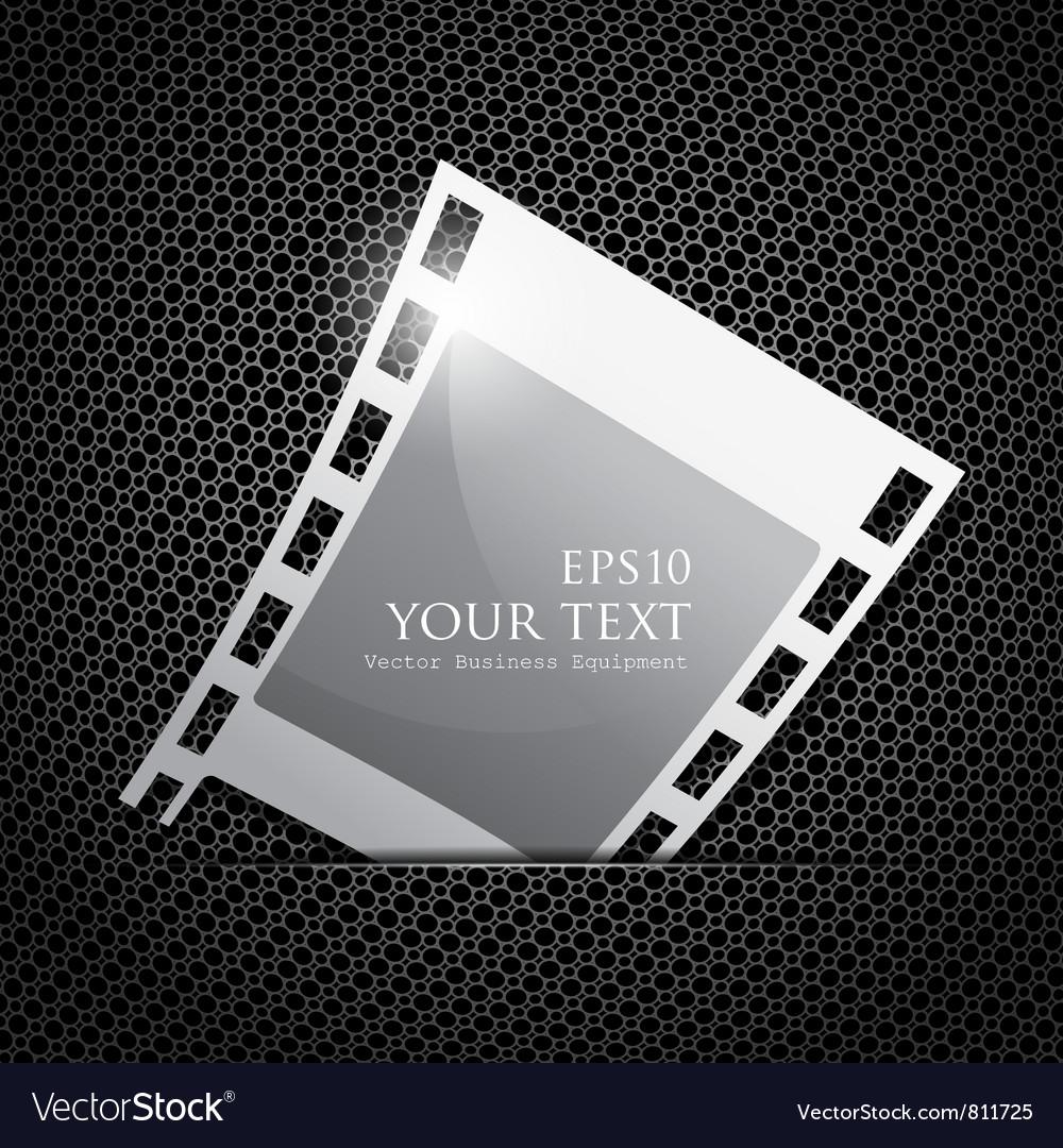 Empty silver camera film roll vector