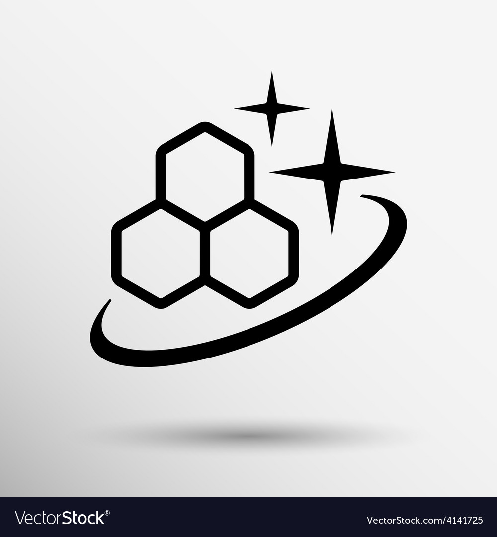 Molecule icon isolated glossy shiny vector