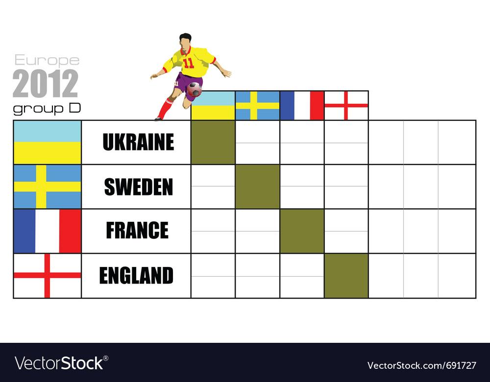 Football table vector