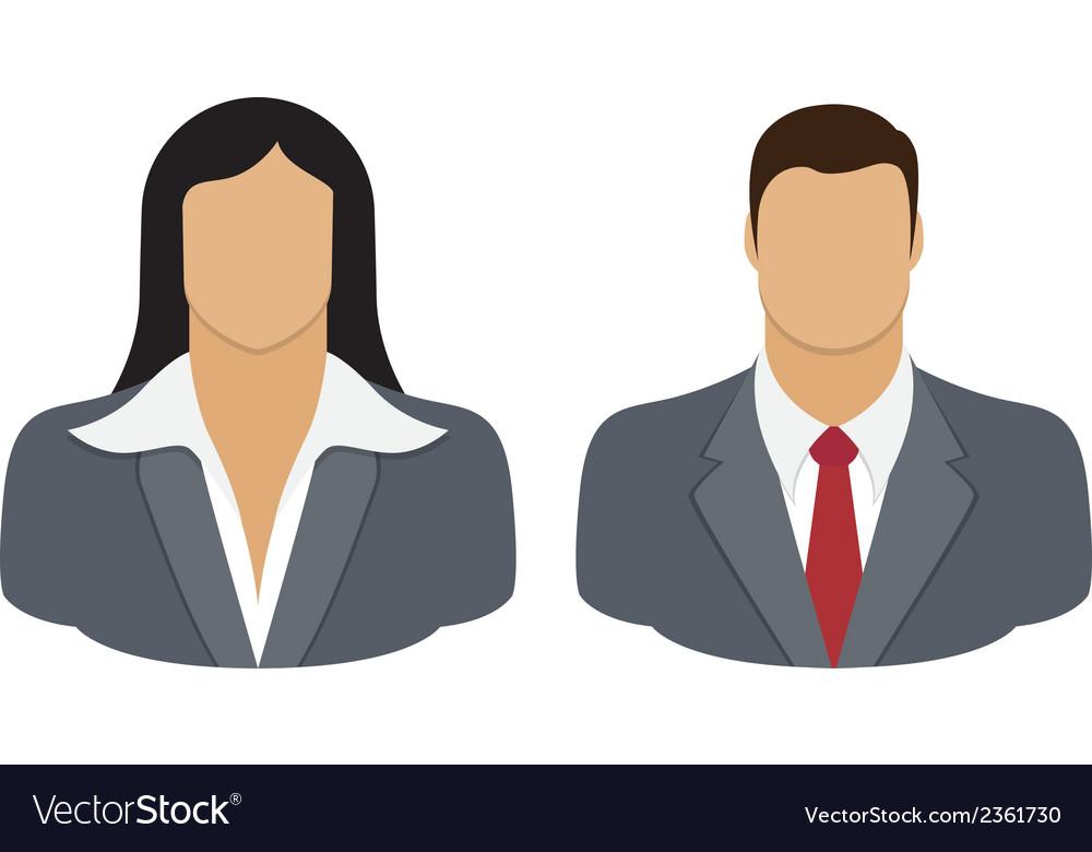 Business person user icon vector