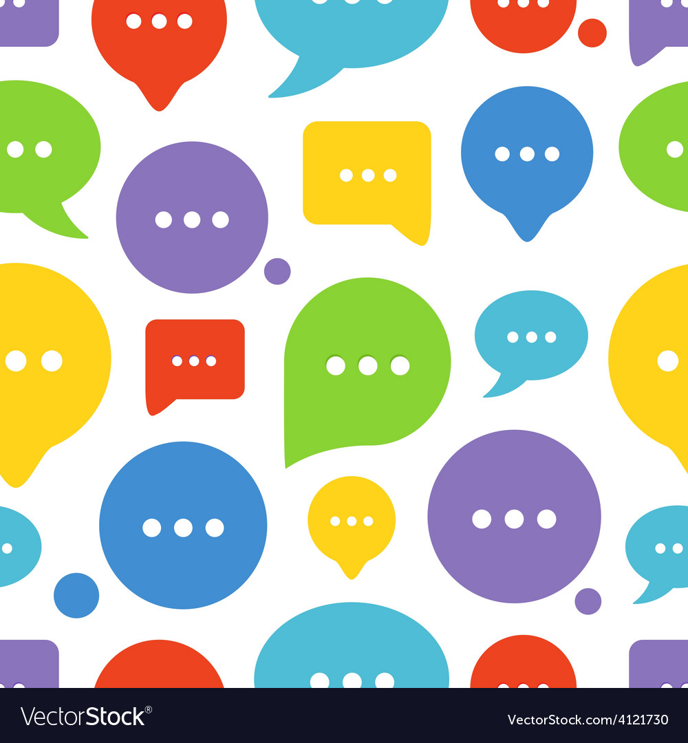 Color speech clouds seamless background vector