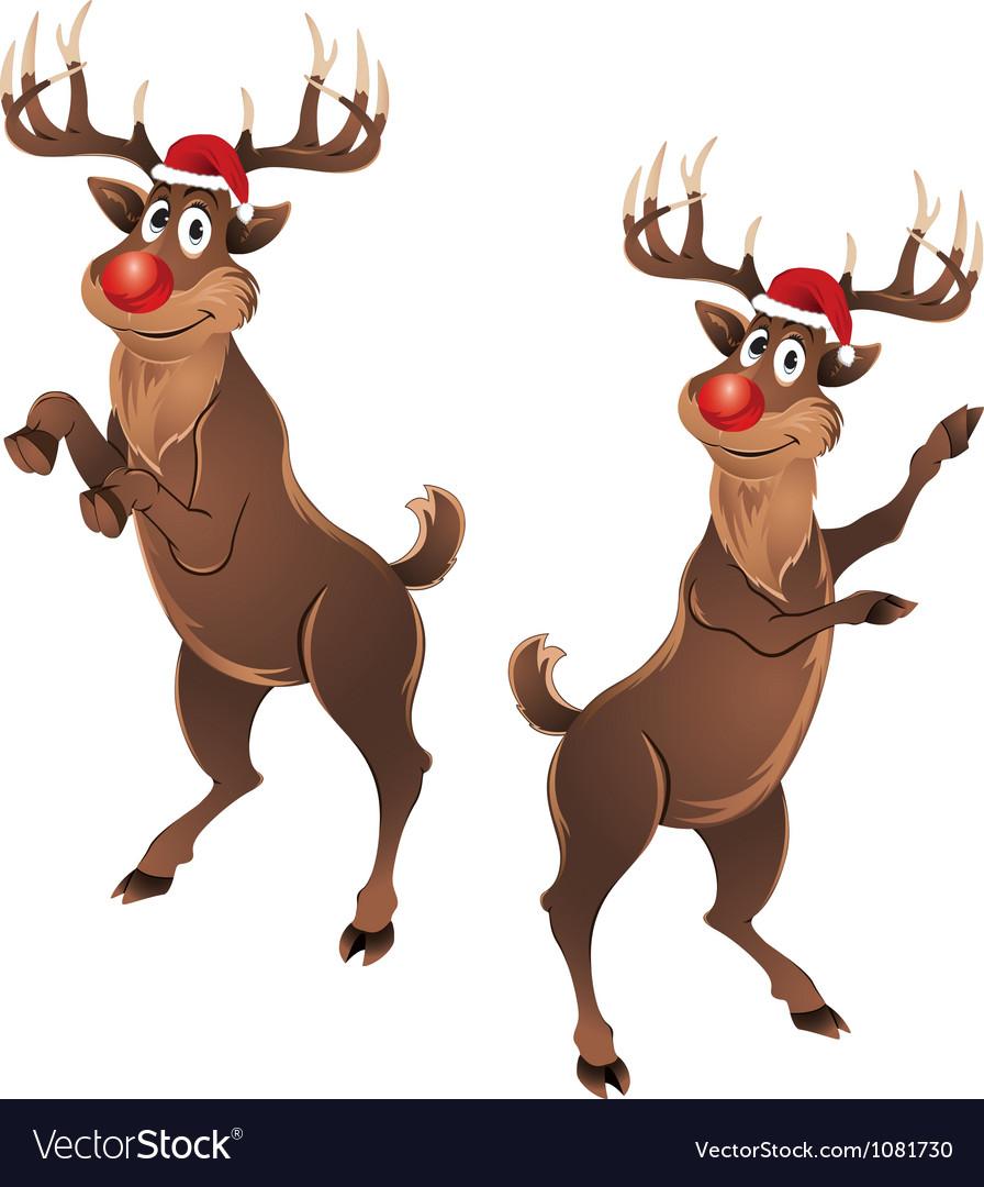 Rudolph the reindeer dancing vector