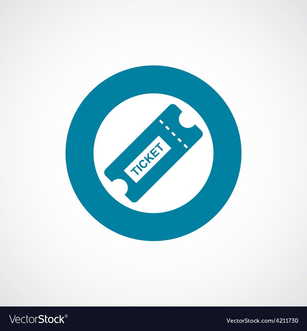 Ticket icon bold blue circle border vector