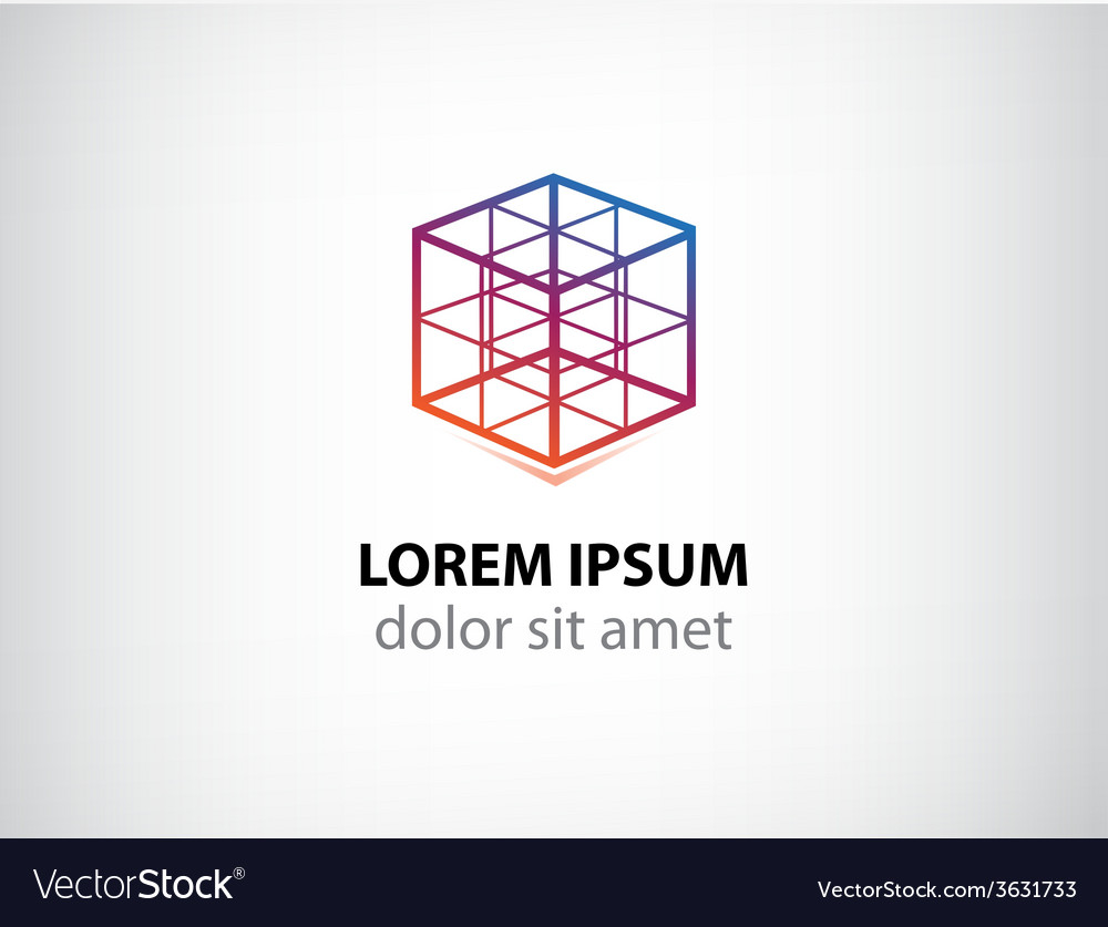 Cube construction icon for your company vector