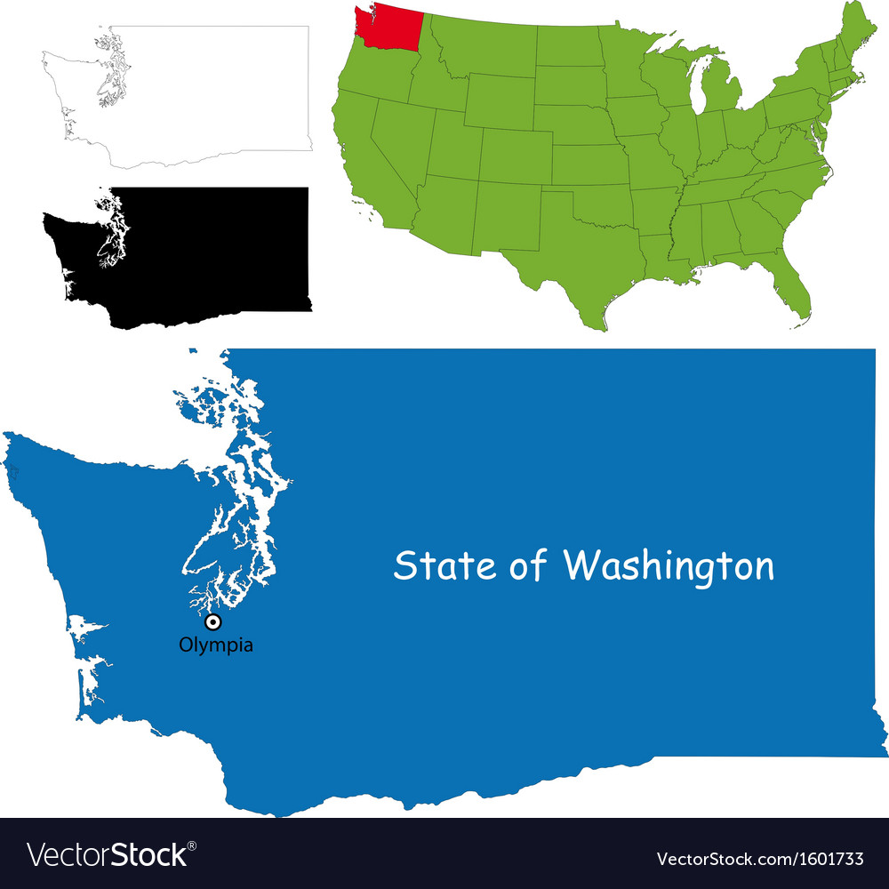 Washington map vector