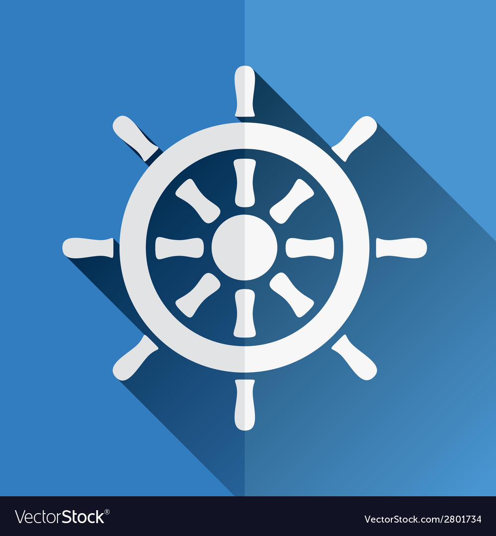 Rudder icon vector