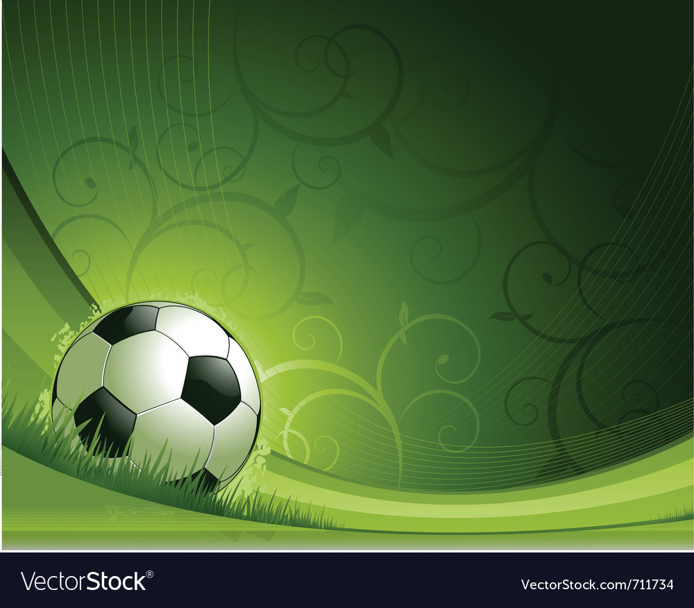 Soccer background concept vector