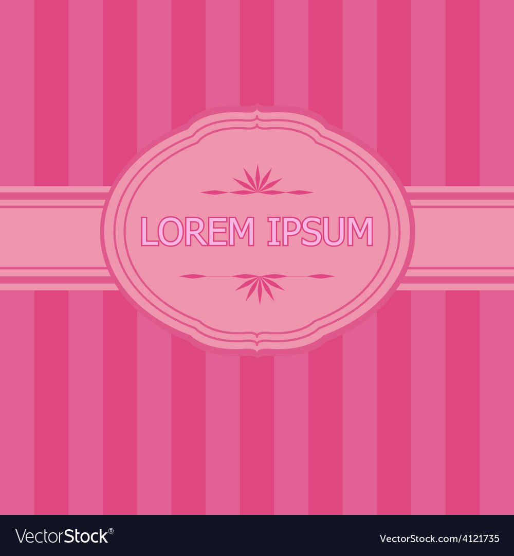 Pink frame with place for text vector
