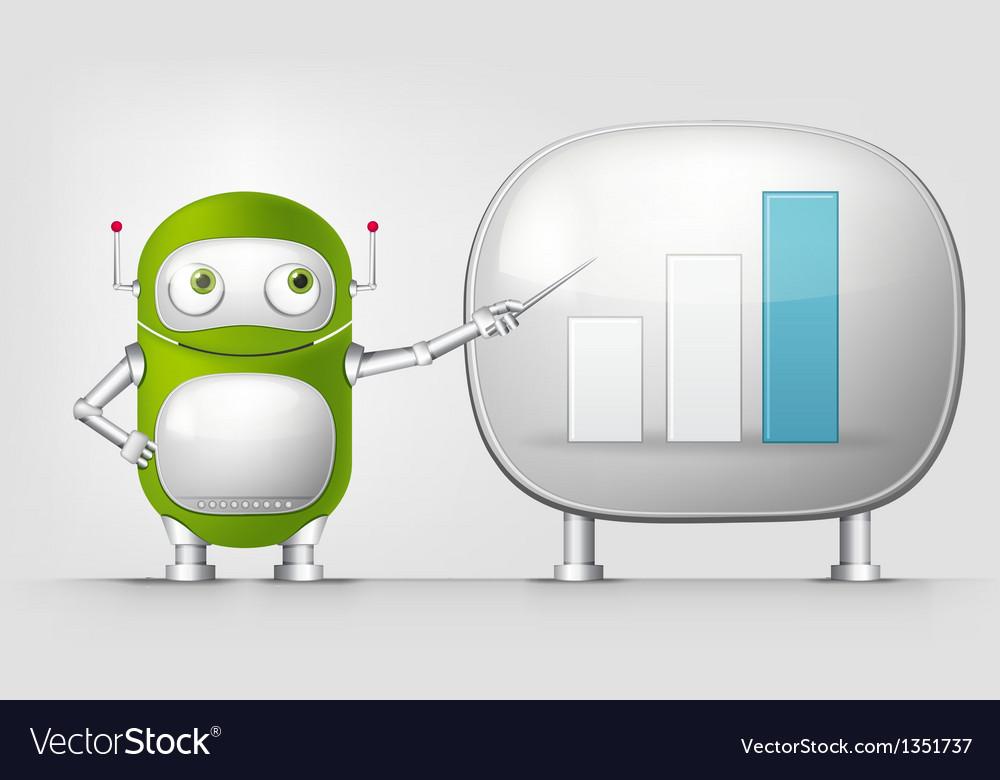 Green robot vector