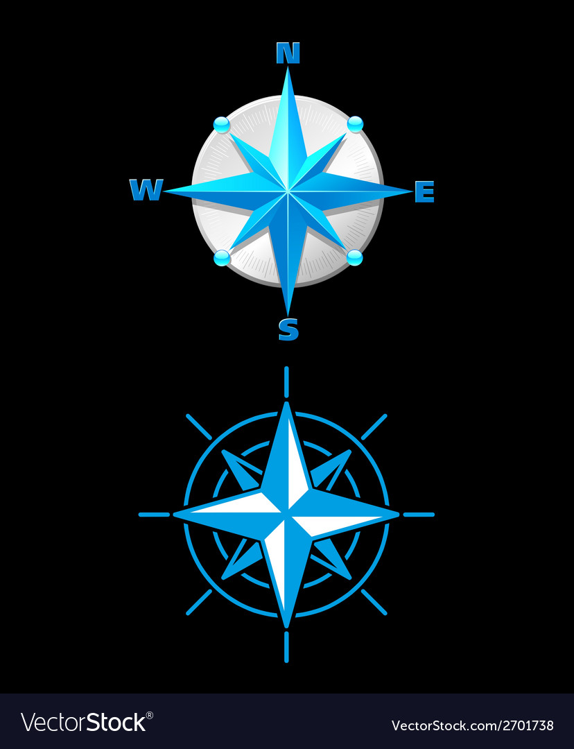 Nautically themed compass vector