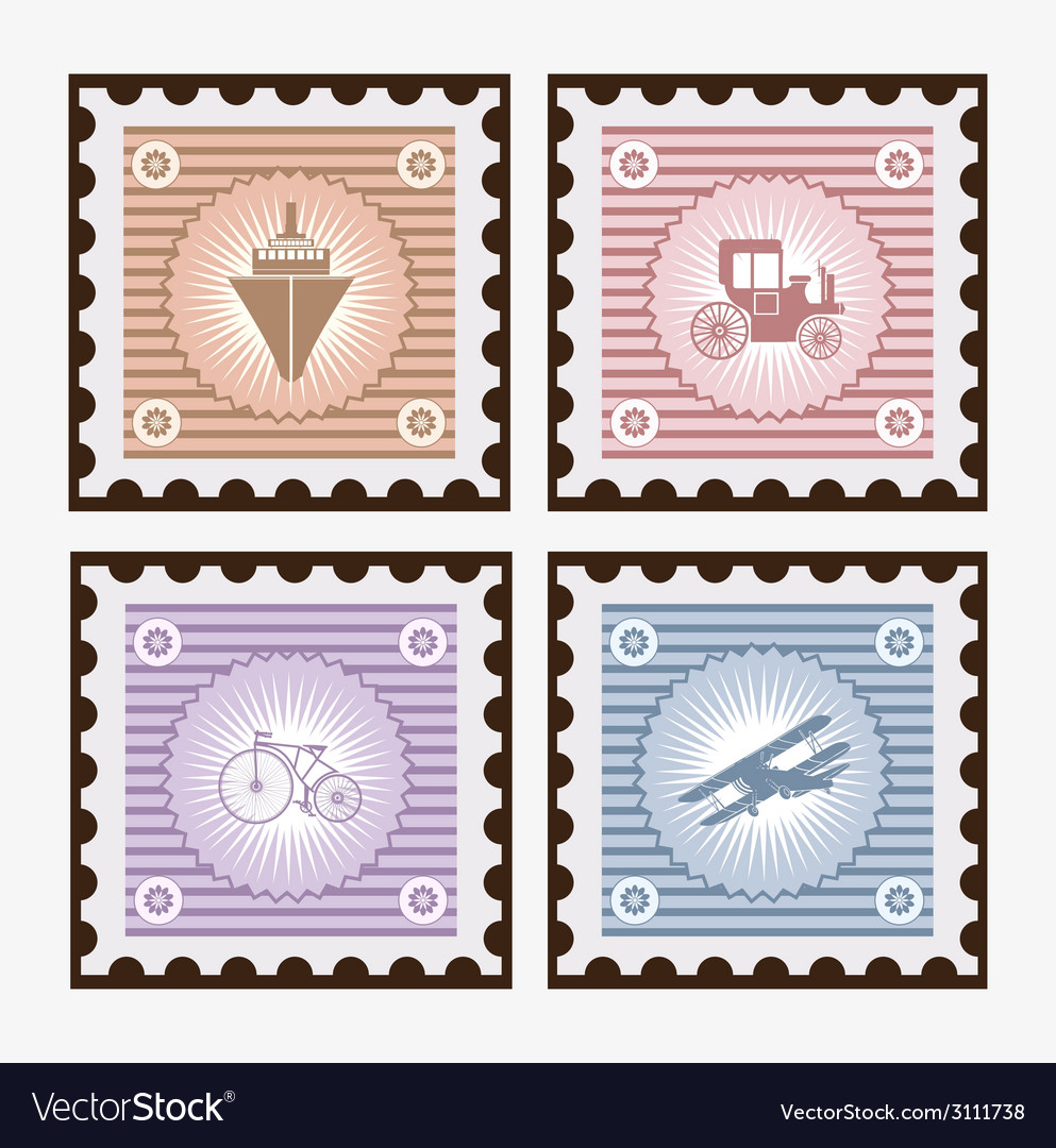 Old postage vector