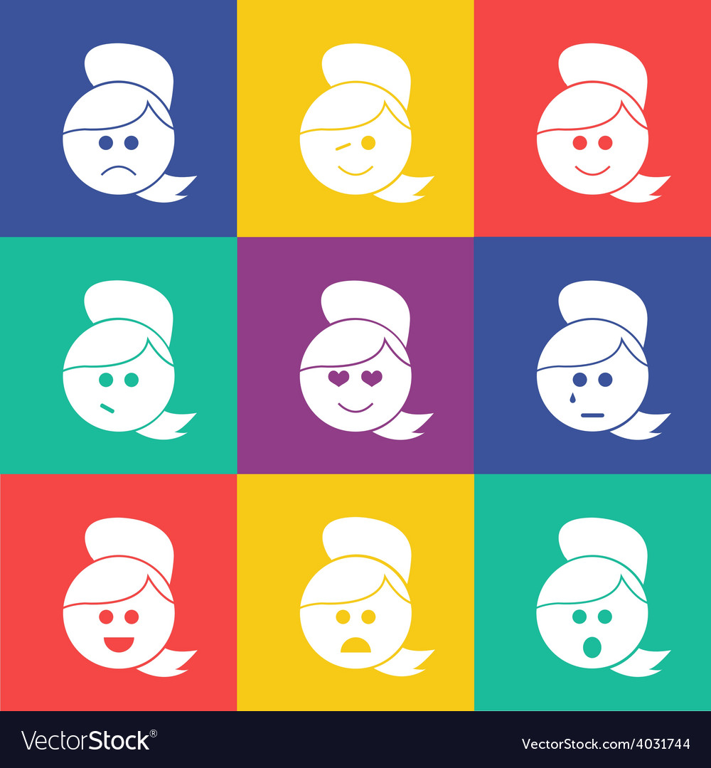Smiles tail flat vector