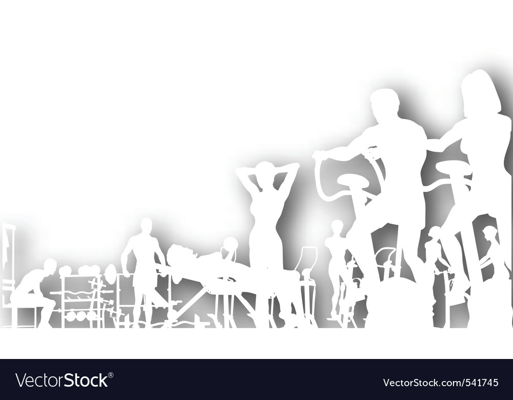 Gym cutout vector