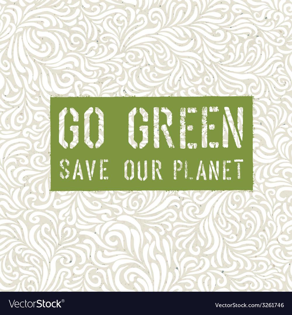 Go-green-conceptual-design-vector