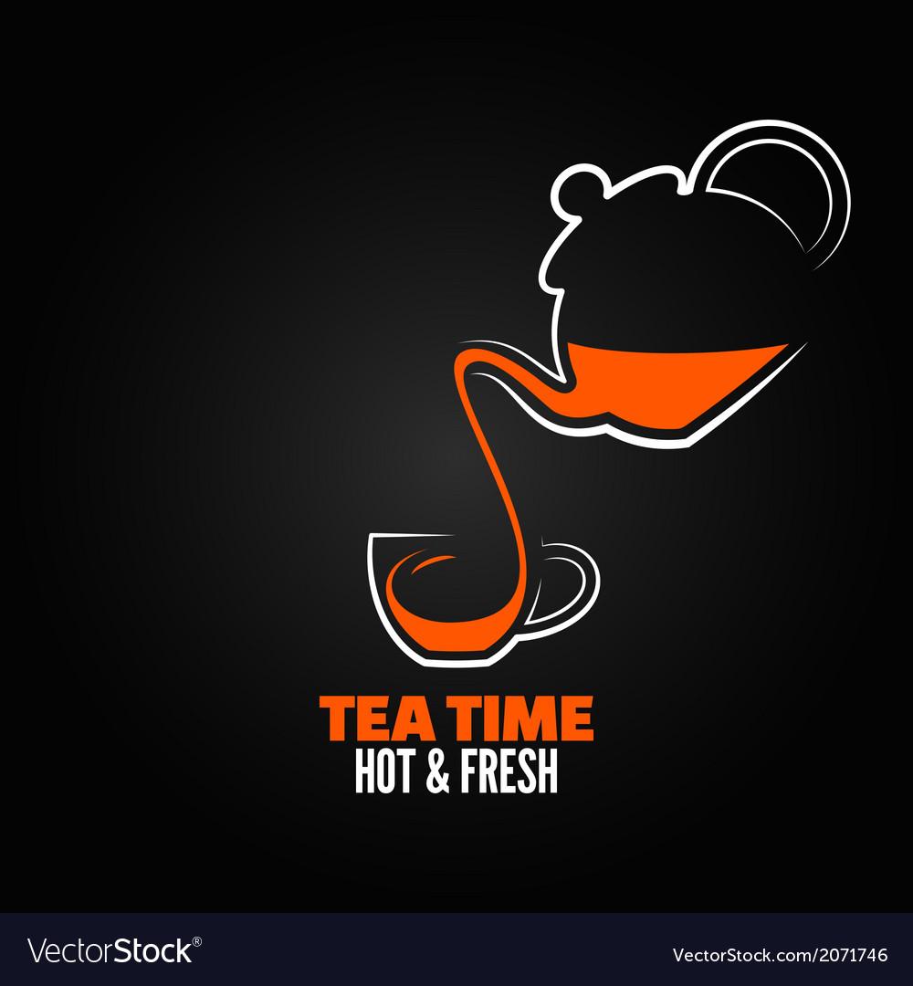 Tea cup design menu backgraund vector