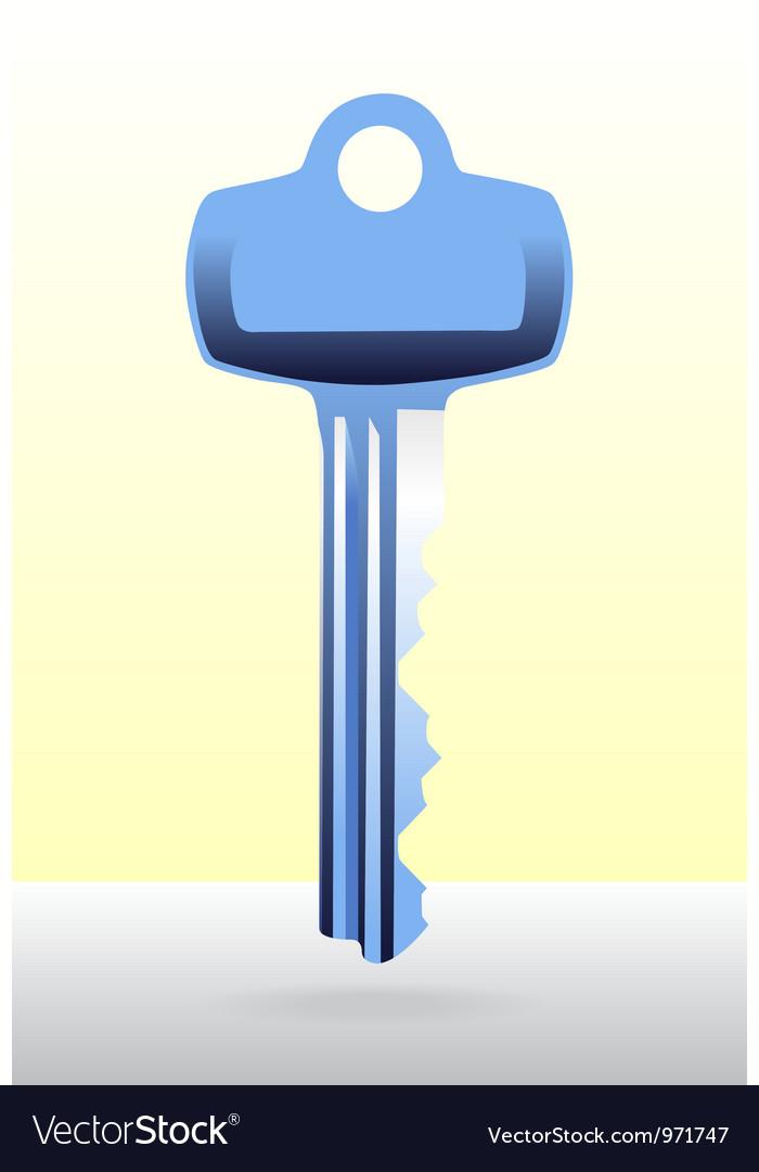 Blue house door key vector