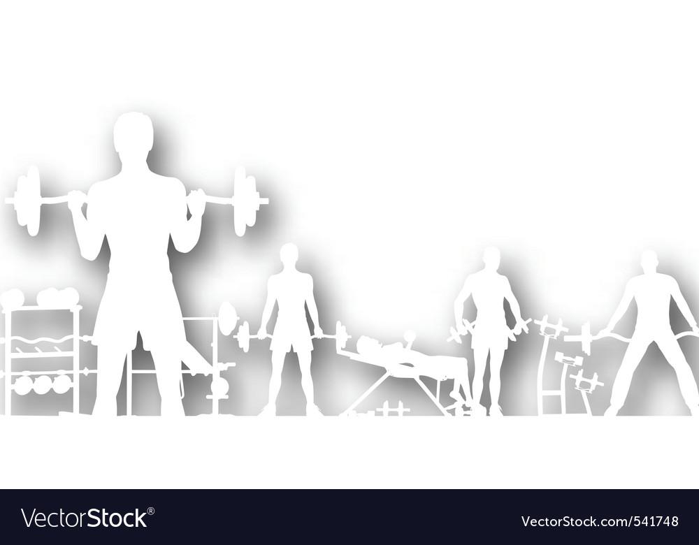Gymnasium cutout vector