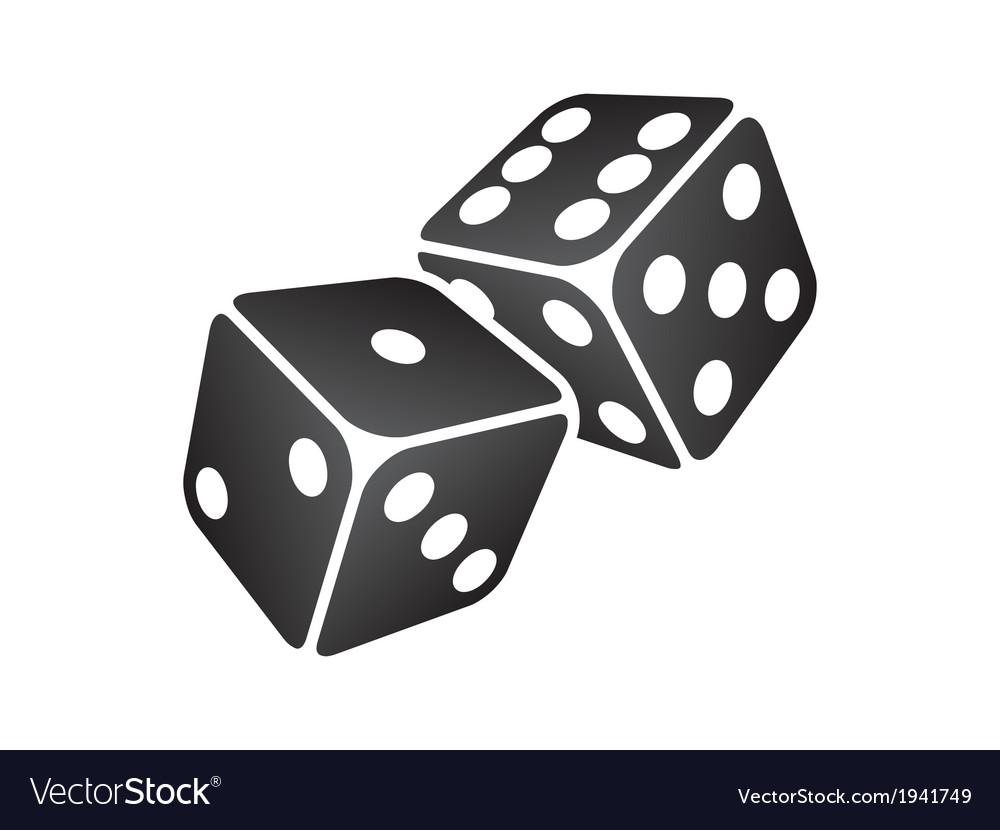 Black dice vector