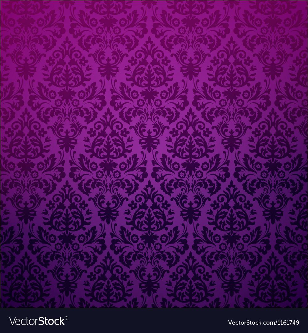 Damask vintage floral background pattern vector