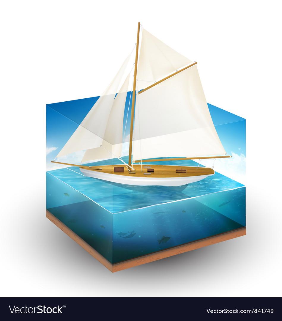 Sailing boat vector
