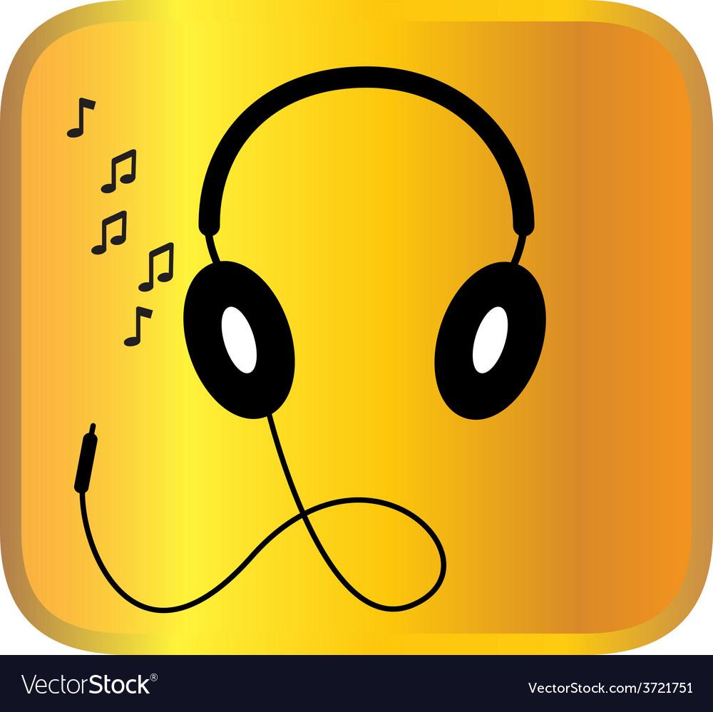 Headphone vector