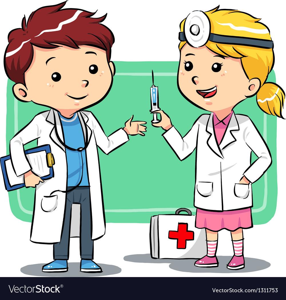 Doctor kids vector