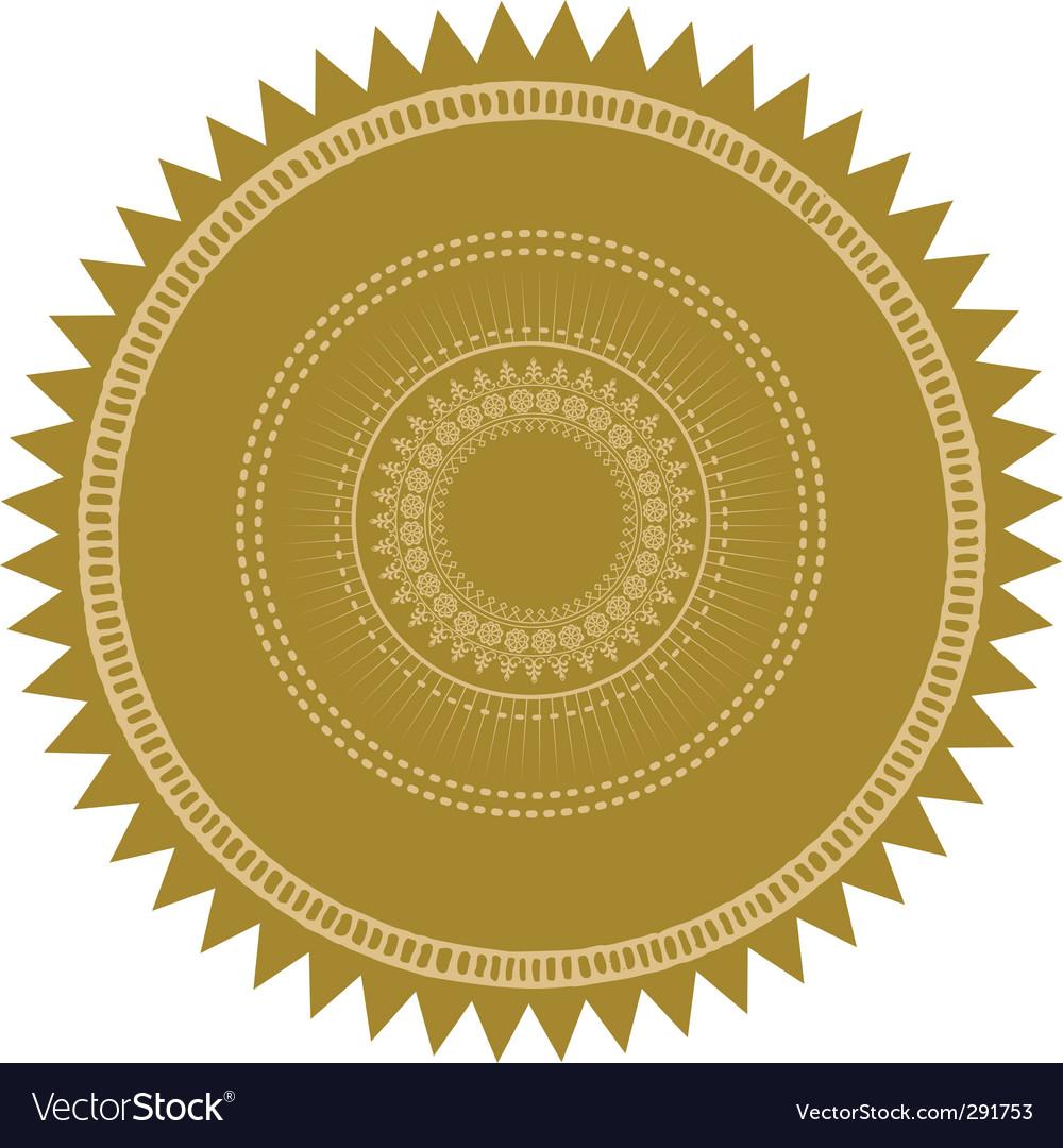Gold burst seal vector