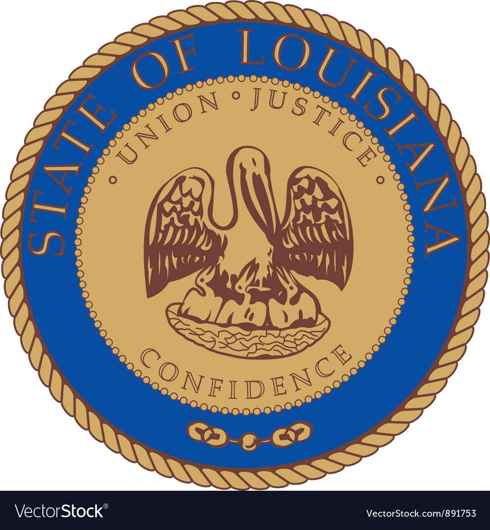 Louisiana seal vector