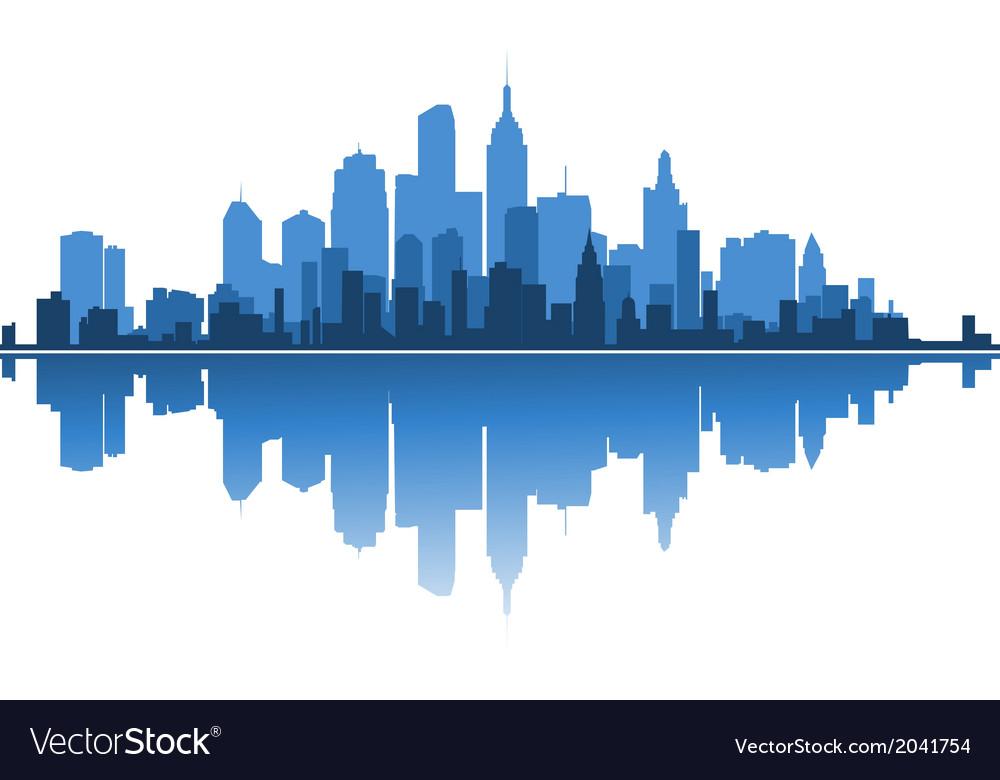 Urban architecture vector