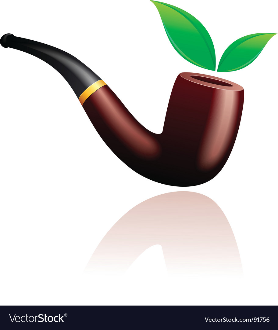 Tobacco pipe vector