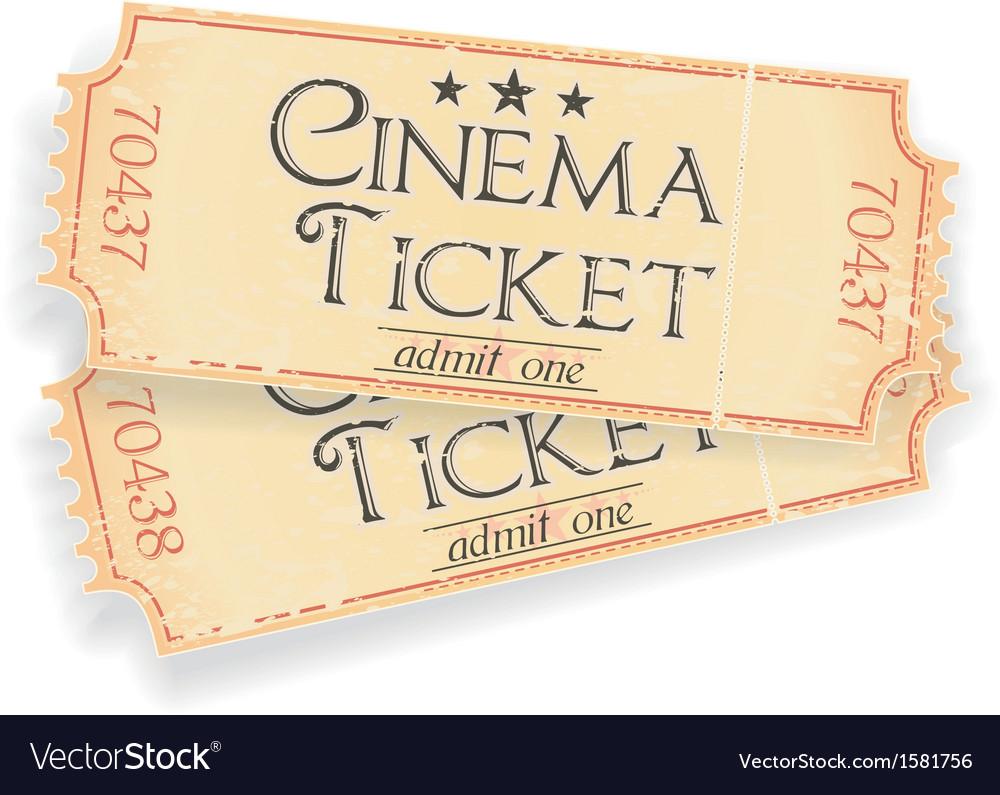 Vintage sinema ticket vector