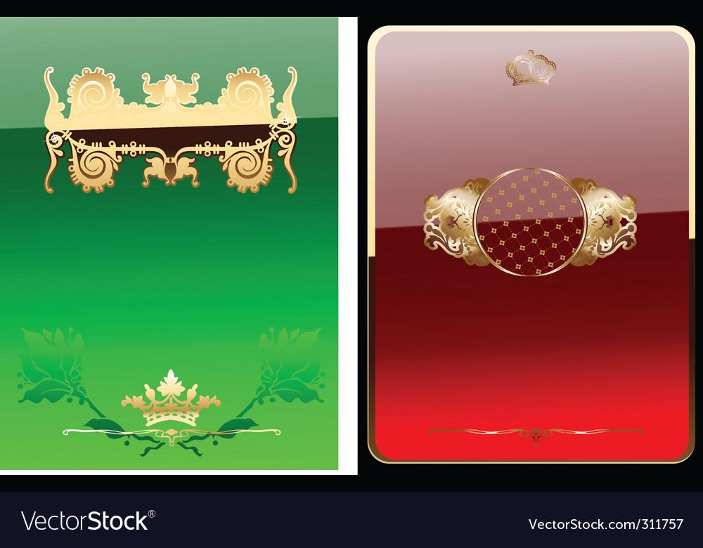 Royal ornate banner vector