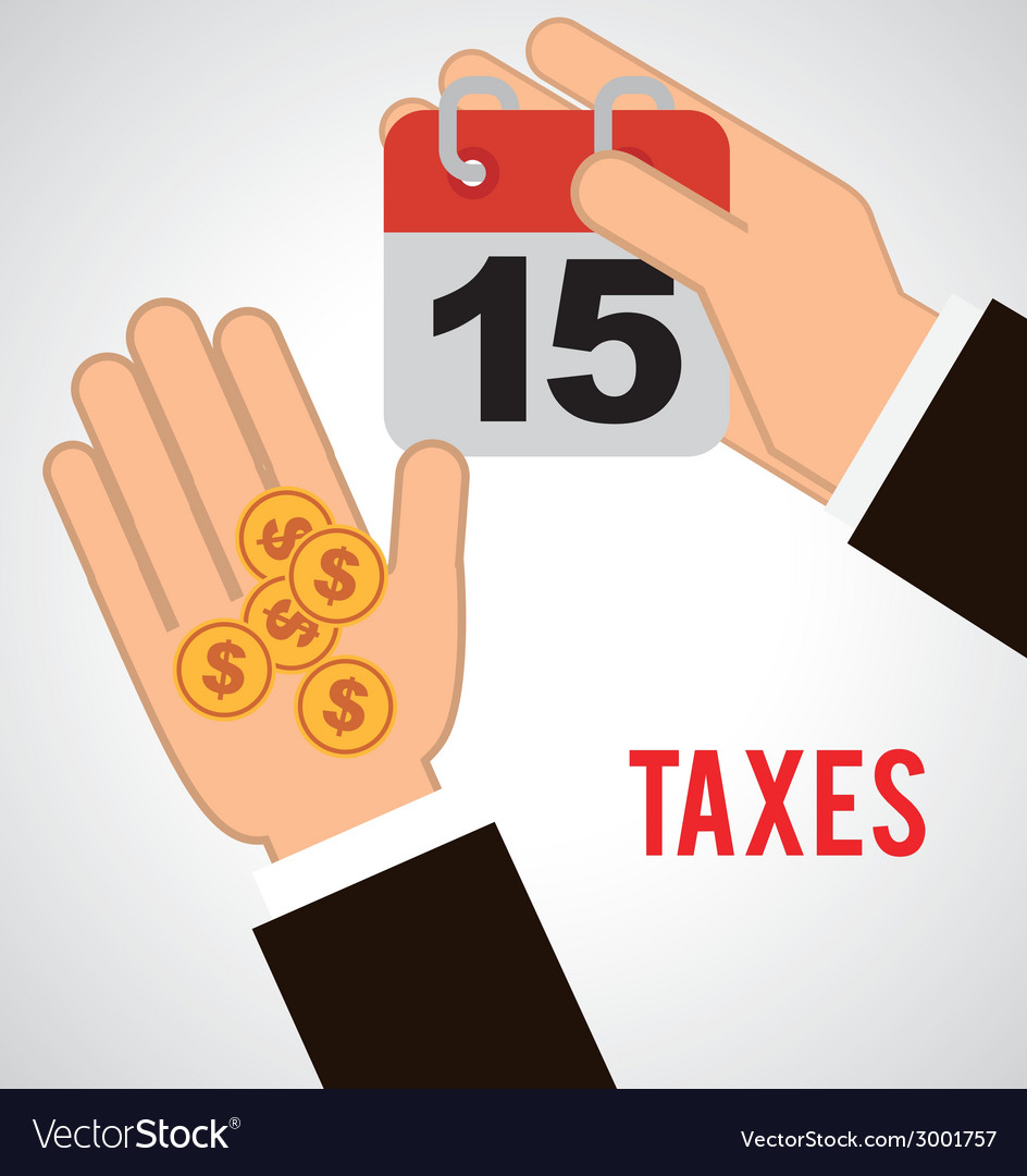 Taxes design vector