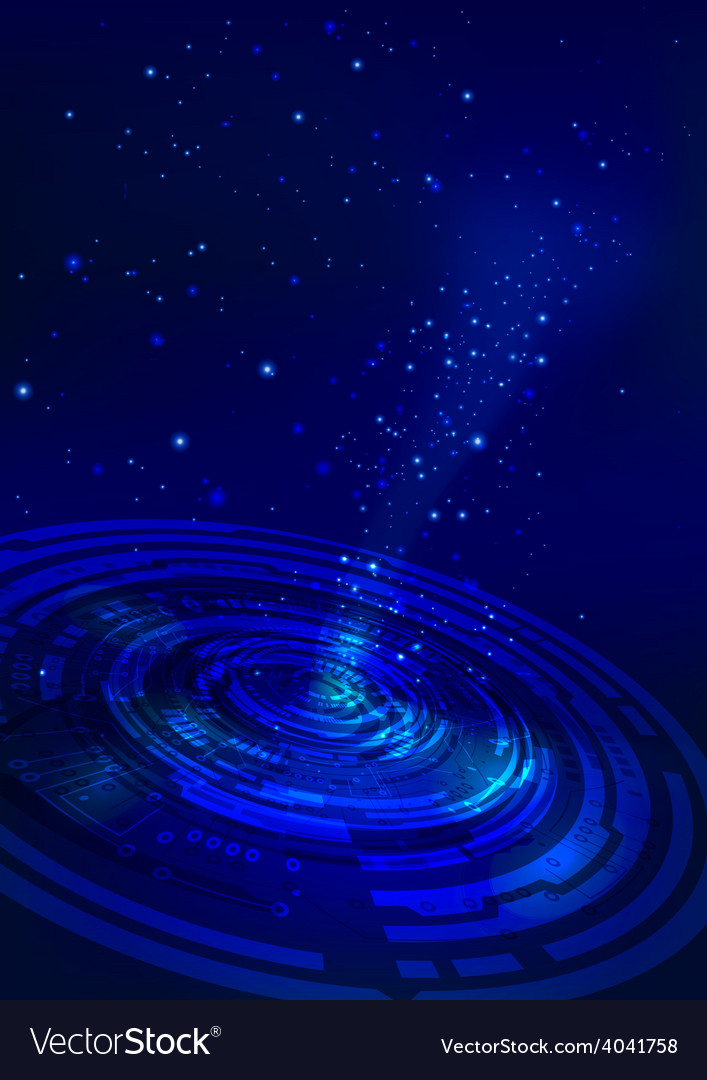 Abstract technology space blue background vector