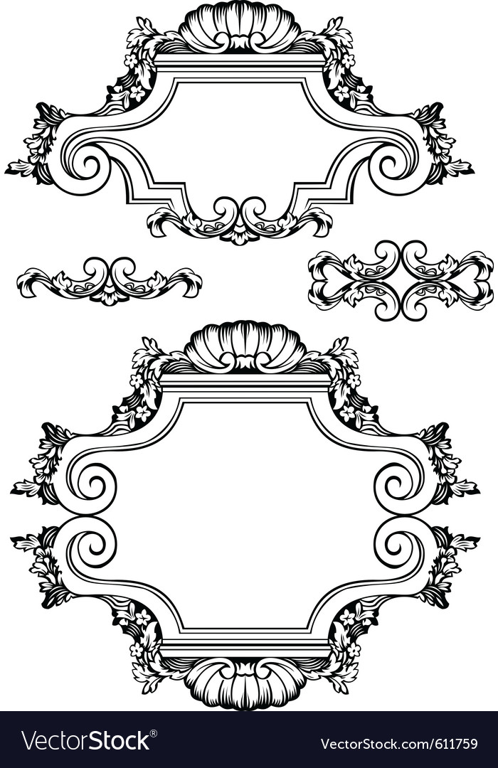 Antique vintage frames vector