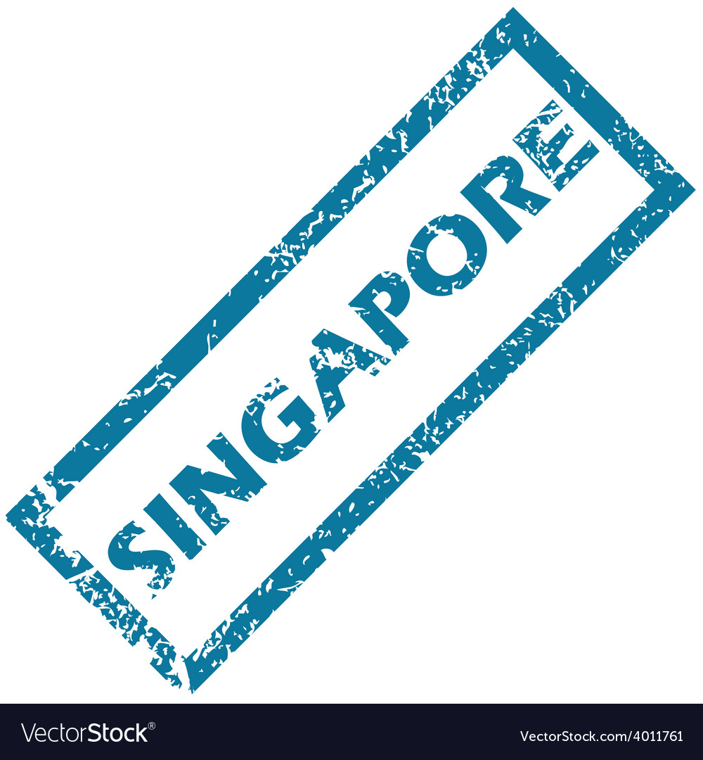 Singapore rubber stamp vector