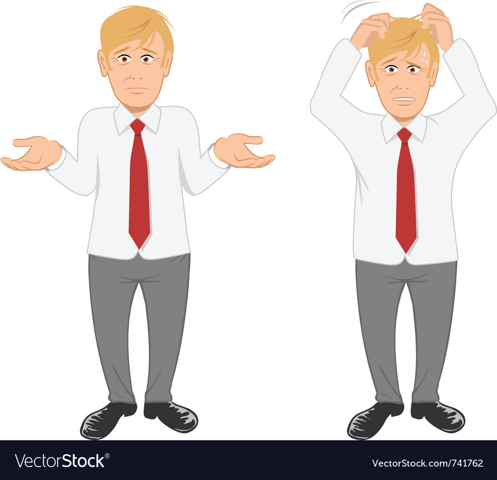 Office guy stressed vector