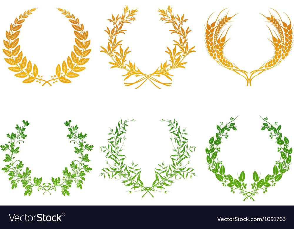 Wreaths set vector