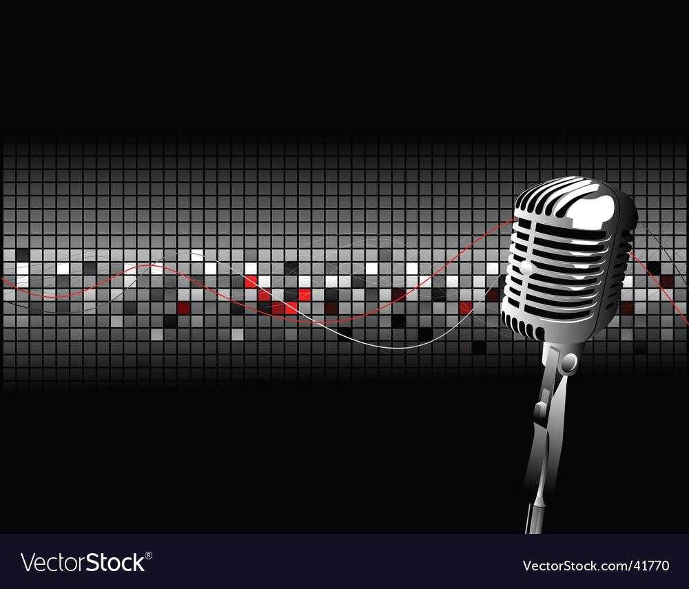 Vintage mic vector