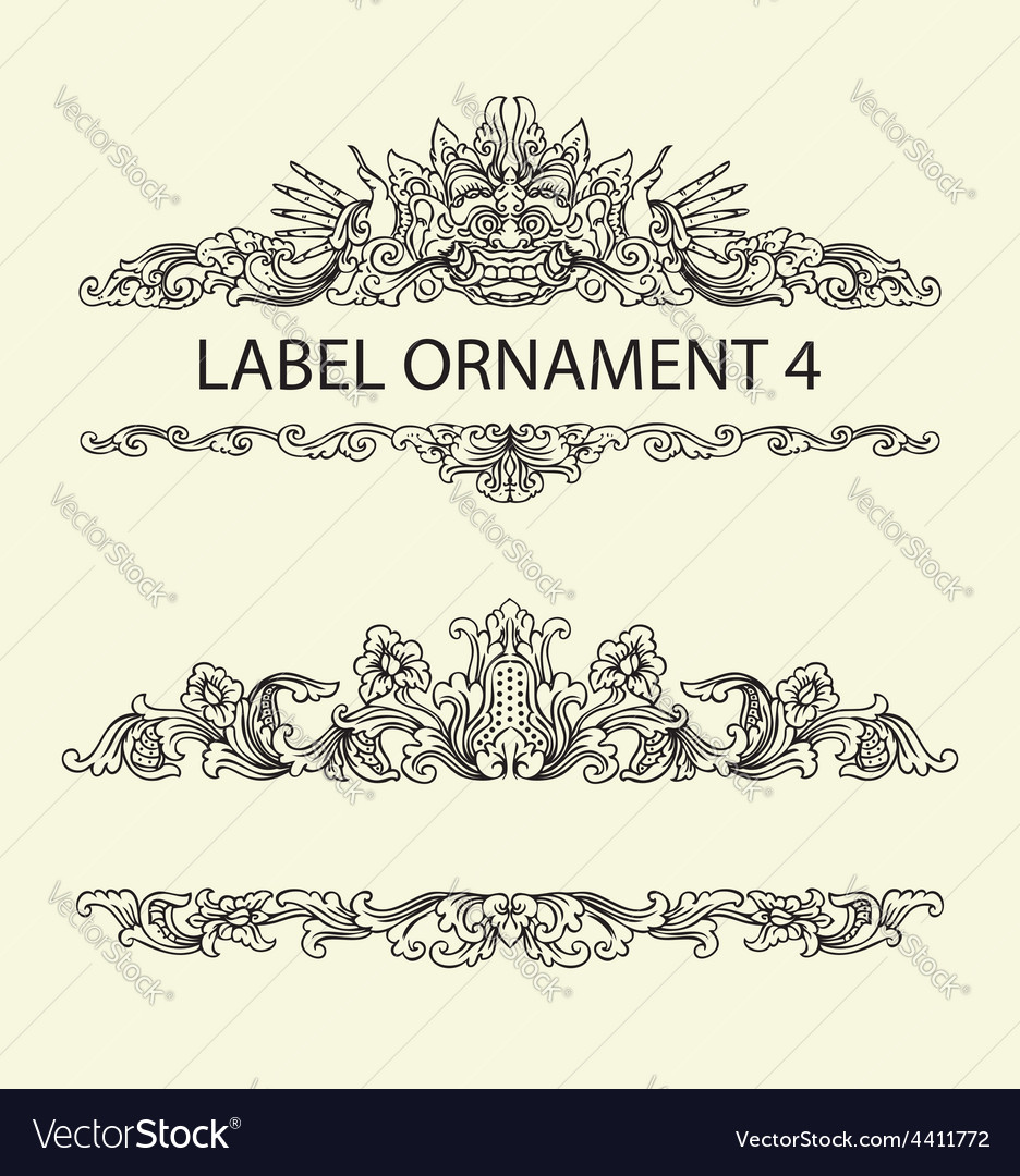 Label ornament 4 vector