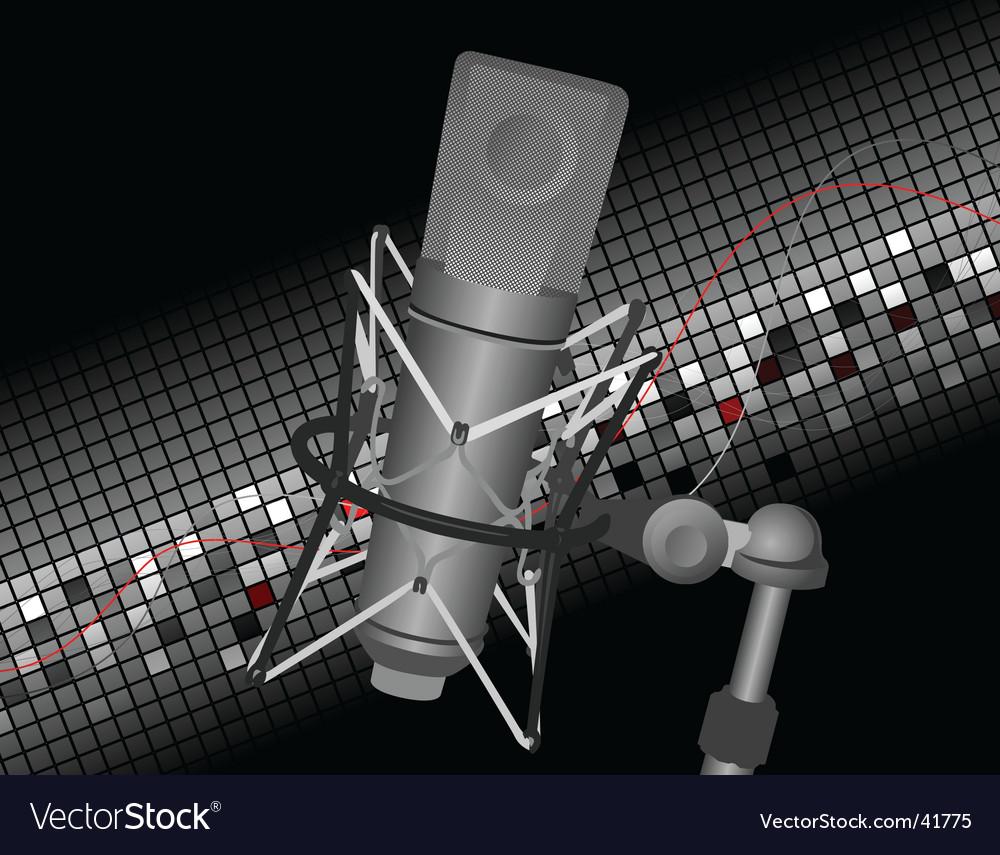 Studio mic vector