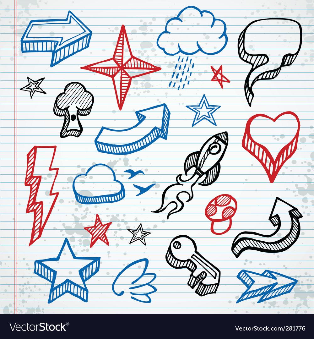 Sketchy icons vector