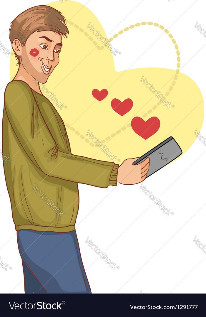 Internet dating vector