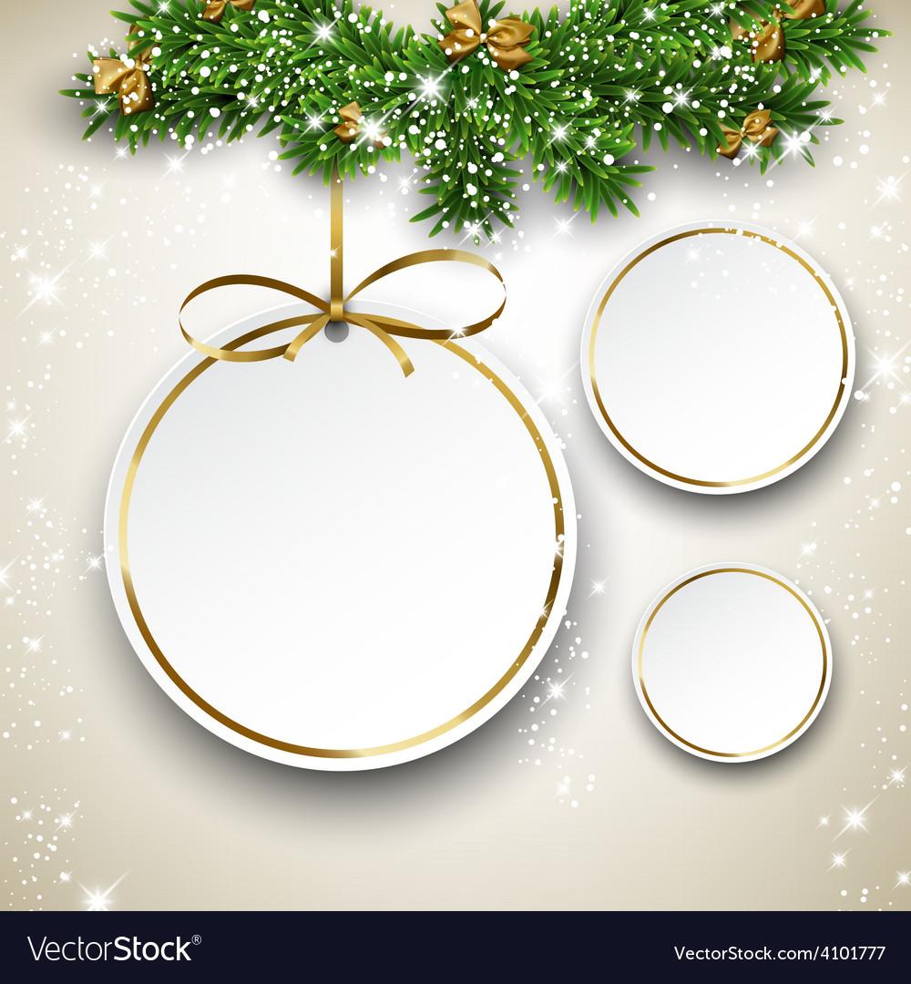Paper christmas balls vector