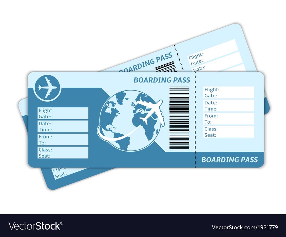 Blank plane tickets vector
