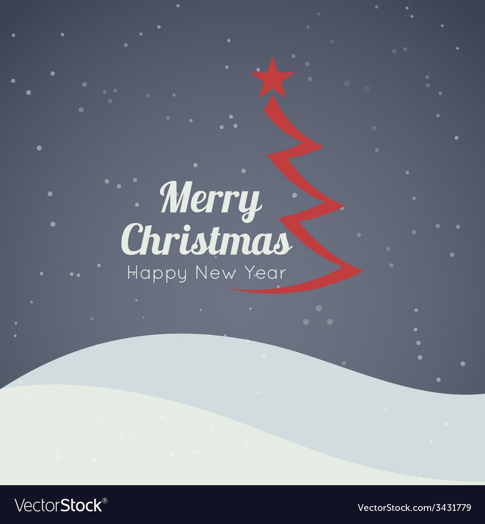 Merry christmas landscape vector