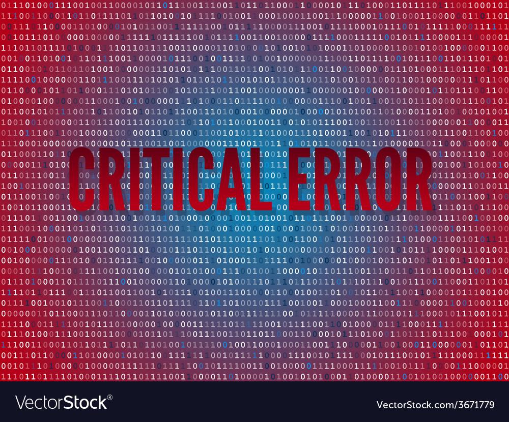 Red screen binary code screen vector